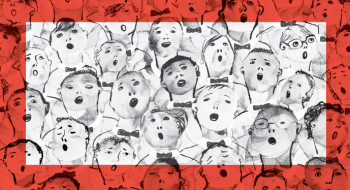 Illustration of a group of people singing