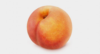 Peach Band workout. A peach that looks like a bottom.