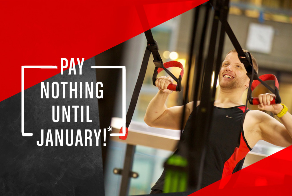 Gym membership December offer - pay nothing until January