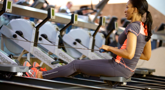 rowing machine in