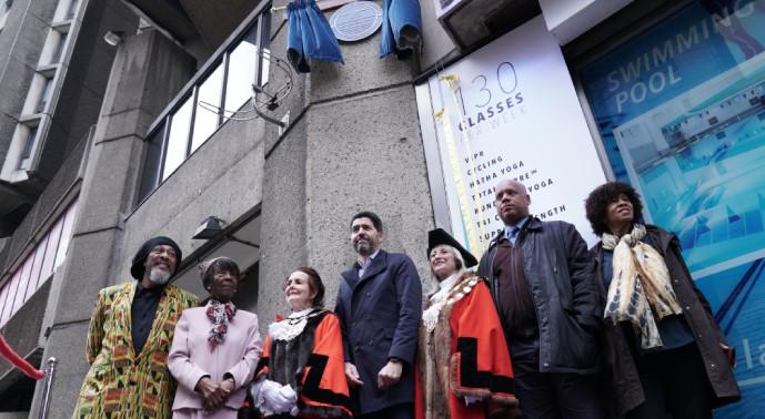Raoul Dero, Prof Dame Elizabeth Anionwu, Mayor of Camden, Dep Lord Mayor of Westminster, David Ball, Tony Warner, Tracey Blackwood