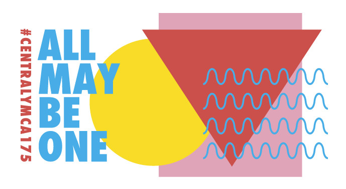 "YMCA 175 logo - ""All May Be One"""