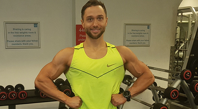 Edgaras Lindinas using the YMCA Club to train for the UKBFF's 'Sugar Classic' bodybuilding competition